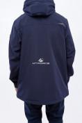 Оптом Костюм мужской большого размера softshell темно-синего цвета 01921TS, фото 8