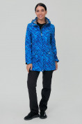 Оптом Костюм женский softshell синего цвета 019221S, фото 3