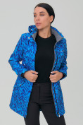 Оптом Костюм женский softshell синего цвета 019221S, фото 6