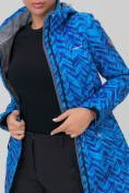 Оптом Костюм женский softshell синего цвета 019221S в Екатеринбурге, фото 7