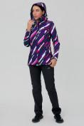 Оптом Костюм женский softshell фиолетового цвета 01923-1F в  Красноярске, фото 5