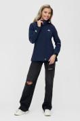 Оптом Ветровка MTFORCE женская темно-синего цвета 2038-1TS в Казани, фото 3