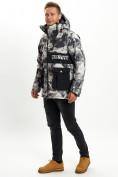Оптом Молодежная зимняя куртка мужская бежевого цвета 059B в Екатеринбурге, фото 4