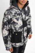 Оптом Молодежная зимняя куртка мужская бежевого цвета 059B в Екатеринбурге, фото 6
