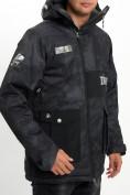 Оптом Молодежная зимняя куртка мужская черного цвета 059Ch в Екатеринбурге, фото 13