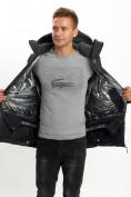 Оптом Молодежная зимняя куртка мужская черного цвета 059Ch в Екатеринбурге, фото 14