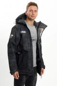 Оптом Молодежная зимняя куртка мужская черного цвета 059Ch в Екатеринбурге, фото 2