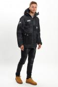 Оптом Молодежная зимняя куртка мужская черного цвета 059Ch в Екатеринбурге, фото 4