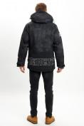 Оптом Молодежная зимняя куртка мужская черного цвета 059Ch в Екатеринбурге, фото 8