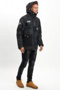 Оптом Молодежная зимняя куртка мужская черного цвета 059Ch в Екатеринбурге, фото 6