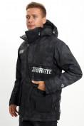 Оптом Молодежная зимняя куртка мужская черного цвета 059Ch в Екатеринбурге, фото 9
