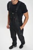 Оптом Горнолыжный костюм мужской черного цвета 077010Ch в Екатеринбурге, фото 12