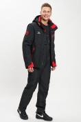 Оптом Горнолыжный костюм мужской черного цвета 077010Ch в Екатеринбурге, фото 2