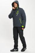 Оптом Горнолыжный костюм мужской темно-серого цвета 077010TC в Екатеринбурге, фото 8
