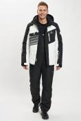 Оптом Горнолыжный костюм мужской белого цвета 077012Bl в Екатеринбурге