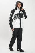 Оптом Горнолыжный костюм мужской белого цвета 077012Bl в Екатеринбурге, фото 8
