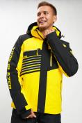 Оптом Горнолыжный костюм мужской желтого цвета 077012J в Екатеринбурге, фото 11
