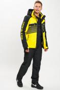 Оптом Горнолыжный костюм мужской желтого цвета 077012J в Екатеринбурге, фото 2