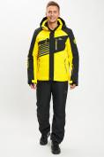 Оптом Горнолыжный костюм мужской желтого цвета 077012J в Екатеринбурге, фото 3