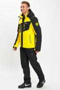 Оптом Горнолыжный костюм мужской желтого цвета 077012J в Екатеринбурге, фото 4