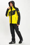Оптом Горнолыжный костюм мужской желтого цвета 077012J в Екатеринбурге, фото 5