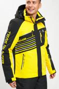 Оптом Горнолыжный костюм мужской желтого цвета 077012J в Екатеринбурге, фото 7