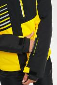Оптом Горнолыжный костюм мужской желтого цвета 077012J в Екатеринбурге, фото 8