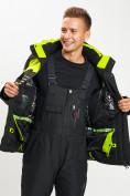 Оптом Горнолыжный костюм мужской зеленого цвета 077012Z в Екатеринбурге, фото 10