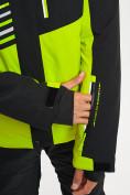 Оптом Горнолыжный костюм мужской зеленого цвета 077012Z в Екатеринбурге, фото 9