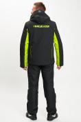 Оптом Горнолыжный костюм мужской зеленого цвета 077012Z в Екатеринбурге, фото 5