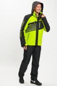 Оптом Горнолыжный костюм мужской зеленого цвета 077012Z в Екатеринбурге, фото 6