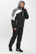 Оптом Горнолыжный костюм мужской белого цвета 077013Bl в Екатеринбурге, фото 4
