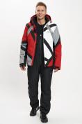 Оптом Горнолыжный костюм мужской красного цвета 077015Kr в Екатеринбурге