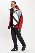 Оптом Горнолыжный костюм мужской красного цвета 077015Kr в Екатеринбурге, фото 3