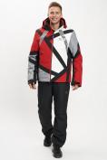 Оптом Горнолыжный костюм мужской красного цвета 077015Kr в Екатеринбурге, фото 4