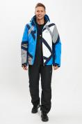 Оптом Горнолыжный костюм мужской синего цвета 077015S в Екатеринбурге, фото 3