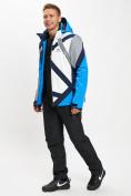 Оптом Горнолыжный костюм мужской синего цвета 077015S в Екатеринбурге, фото 4
