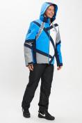 Оптом Горнолыжный костюм мужской синего цвета 077015S в Екатеринбурге, фото 6