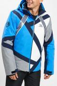 Оптом Горнолыжный костюм мужской синего цвета 077015S в Екатеринбурге, фото 7