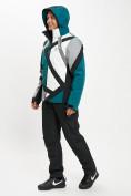 Оптом Горнолыжный костюм мужской темно-зеленого цвета 077015TZ в Екатеринбурге, фото 7