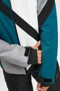 Оптом Горнолыжный костюм мужской темно-зеленого цвета 077015TZ в Екатеринбурге, фото 9