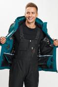 Оптом Горнолыжный костюм мужской темно-зеленого цвета 077016TZ в Екатеринбурге, фото 10