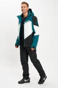 Оптом Горнолыжный костюм мужской темно-зеленого цвета 077016TZ в Екатеринбурге, фото 3