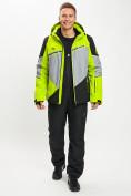 Оптом Горнолыжный костюм мужской зеленого цвета 077016Z в Екатеринбурге, фото 4
