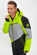 Оптом Горнолыжный костюм мужской зеленого цвета 077016Z в Екатеринбурге, фото 12