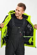 Оптом Горнолыжный костюм мужской зеленого цвета 077016Z в Екатеринбурге, фото 15