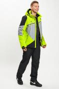 Оптом Горнолыжный костюм мужской зеленого цвета 077016Z в Екатеринбурге, фото 3