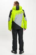 Оптом Горнолыжный костюм мужской зеленого цвета 077016Z в Екатеринбурге, фото 5
