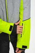 Оптом Горнолыжный костюм мужской зеленого цвета 077016Z в Екатеринбурге, фото 9