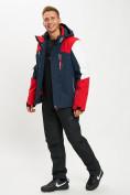 Оптом Горнолыжный костюм мужской красного цвета 077018Kr в Екатеринбурге, фото 2